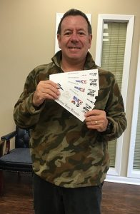 Rob Brown of Americus was a winner also.  He planned to use his tickets to Sumter on Ice for his granddaughter's birthday celebration.