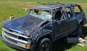 SUBMITTED BY SUMTER COUNTY SHERIFF'S OFFICE This is the vehicle involved in the wreck on Ga. Highway 49 South shortly after lunchtime Friday.
